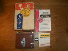 VINTAGE KEYSTONE OLYMPIC K-32 8MM ROLL FILM MOVIE CAMERA BOX AND INSTRUCTIONS
