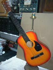 Vintage Homemade Guitar Novelty Lamp Works Retro DIY