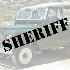 SHERIFF Schriftzug Aufkleber Polizei decal HIGHWAY PATROL US ARMY