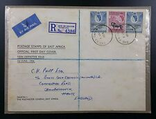 KUT: 1.6.1954 First Day Cover. New Definitive Issue, Dar Es Salaam Cancel
