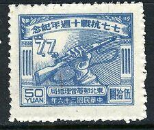 China 1947 Northeast Liberated Anniversary Japanese War $50.00 MNH  L1-35
