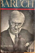 Baruch, Bernard M. Baruch My Own Story 1st Edition