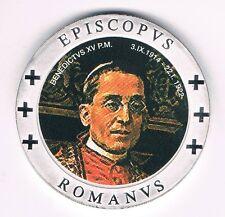 Medaille  EPISCOPUS Romanus  Benedictus Papst mit Farbemblem  (Box 17)