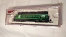 Atlas N Scale #48503 Gp-40 Burlington Northern #3036 Emd Diesel Locomotive