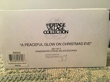 """Dept 56 Access. Heriitage Village Collection """"A Peaceful Glow On Christmas Eve """""""