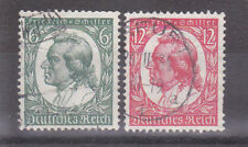 Germany Deutsches Reich 1934 Mi. Nr. 554-555 175th Anniv. Schiller's Birth USED