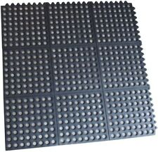 Buffalo Tools Interlocking Rubber Square Mats Perforated 3 ft. x 3 ft. (4-Pack)