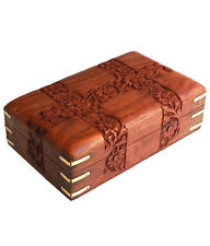 Beautiful Wooden Designer Carved Multipurpose Jewellery box For Gift Item