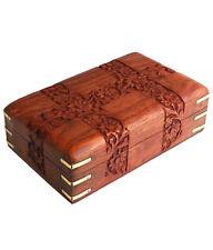 Beautiful Wooden Designer Carved Multipurpose Jewellery box For Diwali Gift Item