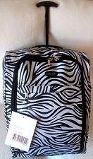 Peso ligero-cabaña-mano-Equipaje - equipaje de mano ruedas-Bolsa Trolley-Case-Blanco y Negro