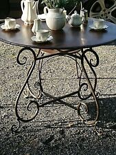 FRENCH GARDEN  BISTRO  round TABLE WROUGHT IRON   antique brown  NEW