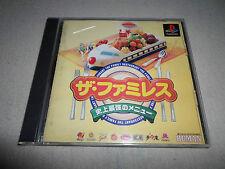 US Seller ! Japan Import Saikyo Menu Family Restaurant Cooking Playstation 1
