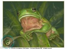 © ART - Reign of the GreenTree Frog Wildlife Nature Original artist print by Di