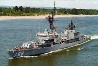 USS Hollister DD-788 US NAVY HAT PIN WW2 KOREA VIETNAM