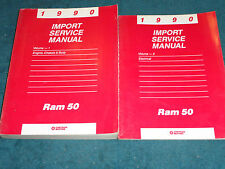 1990 DODGE RAM 50 TRUCK  / SHOP MANUAL SET / SHOP BOOK SET ORIGINAL 2 PIECES