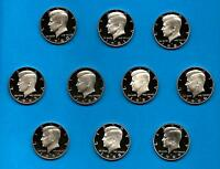 1980 S through 1989 S Clad Proof Kennedy Half Dollar Set of 10