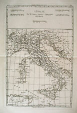 1780 Genuine Antique map of Italy by Rigobert Bonne