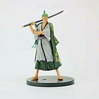 Anime One Piece New Zoro Figure Model world Roronoa Straw PVC Action Figure 17cm