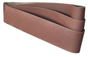 3 x Draper Sanding Belts 100G 915mm x 100mm for Belt & Disc Sander 53005/50021