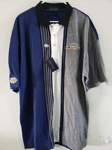 Super Bowl 34 XXXIV Champions St. Louis Rams XL Vintage 3 Button Polo Shirt NWT
