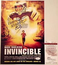 PHILADELPHIA EAGLES VINCE PAPALE SIGNED 9X14 INVINCIBLE PHOTO W/INSCRIPT JSA COA