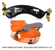 WOLF FORTE SECONDO SPALLIERA VIOLINO forma curva 4/4-3/4  arcuata shoulder rest