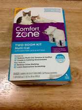 New listing Genuine Comfort Zone Two Room Kit MultiCat Diffusers-New Open Damaged Box-