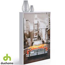 Zapatero con 3 puertas diseño taxi mueble zapatero