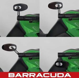 Barracuda SKIN-R Bar End Mirrors - Honda CB650F 2014-2018