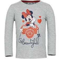 NUEVO JERSEY CAMISETA MANGA LARGA Minnie Mouse Rojo Beige Azul Gris 98 104 116