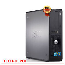Dell Desktop Pc Tower Computer Windows 10 Core 2 Duo 4Gb Ram 250Gb Hdd Fast