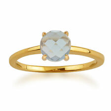 Topaz 9 Carat Solitaire Yellow Gold Fine Rings
