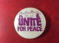VERY RARE PIN BUTTON BADGE UNITE FOR PEACE NGO Disarmament.Metal