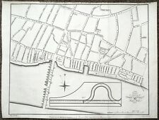 London BANCHINE, libero banchine & Piano di strada, ponte di Londra a Torre Antico map1799