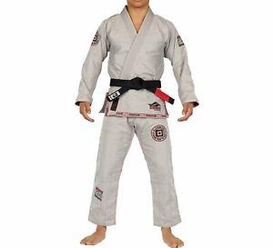 Fuji Suparaito Super Lightweight Mens Jiu-Jitsu BJJ Gi - BJJ Fanatics Grey Gray