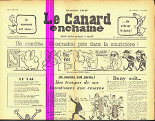 Le CANARD ENCHAINE numero 2183 du 22 aout 1962