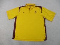 Nike Arizona State Sun Devils Polo Shirt Adult 2XL XXL Yellow ASU Football Men *