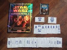 Star Wars The Phantom Menace Episode 1 Merlin,Complete Loose Sticker Set & Album