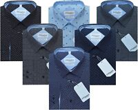 New Mens Formal/Casual Long Sleeve 100% Cotton Tailored Fit Shirts M - XXL