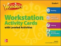 McGraw Hill Wonders Grade 4 Workstation Activity Cards w/ Leveled Activities