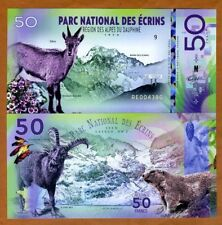 France, Écrins National Park, 50 Francs, Polymer, 2018 > Alpine ibex, Marmot