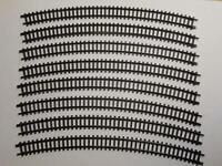 ARNOLD 1530 gebogenes Gleis R3 30° braun 8 Stück (33264)