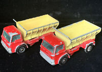 Pair of Vintage Matchbox Lesney Ford Grit Spreading Truck 70 Made in England