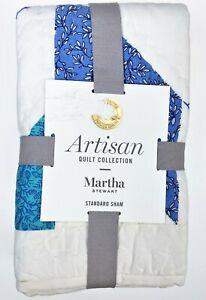 Martha Stewart Sawtooth Star Standard Pillow Sham Artisan Quilt Collection