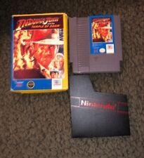 Indiana Jones Temple of Doom [Nintendo NES Cartridge, box]