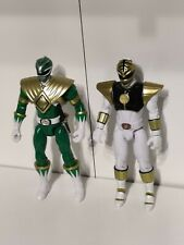 Power Rangers Legacy Silver Strip Green Ranger And Legacy Movie White Ranger.