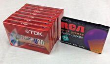 TDK D90 Superior Normal Bias Cassette Tapes (7) PLUS 1 RCA Hi-Fi Stereo RC90