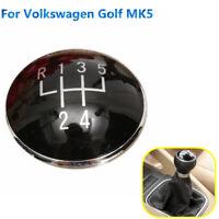 5 Bouchon Couvercle Pommeau Levier Vitesse pour Volkswagen Golf V MK5 2003-2009