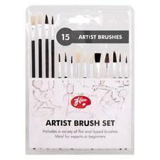 15 Cepillos de pintura de artistas, Redondo, señaló, con punta, Color En, pintura Diversión, creativo