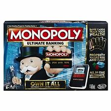 Monopoly Ultimate Banking Game Toys ages 8+ exciting play tracks player wealth